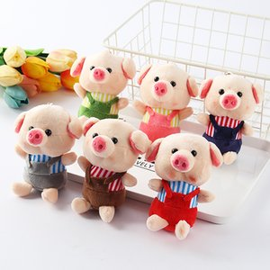 Wholesale 1 Pc Strap Plush Toy Pig Years Mascot Plush Toy Doll Small Pendant Key Cap Decoration Cute