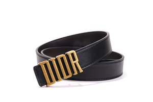 Letter Buckle Solid Color Belts Unisex Fashion Belt High Quality Brand Design Leather Straps Men Women Dress Jeans Belts Birthday Gift