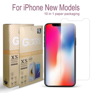 Wholesale For New iPhone X XR XS Max Tempered Glass Screen Protector For iPhone Plus LG Stylo MOTO G7 Play Power mm D H In Package
