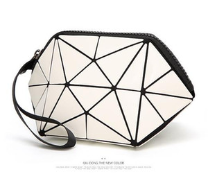 Wholesale Women Fashion Fold Over Handbags Madam Geometric Goint Plaid Tote Casual Clutch Bags Wrist Bag Evening Bags Bolso
