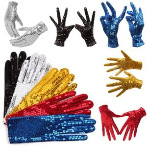 Wholesale HOT SALE Kid Boys Girls Shining Sequin Sequined Glitter Gloves Dance Party Fancy Costume Gloves PAIRS DROP SHIPPING