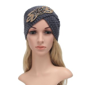Wholesale New Winter Cross Charm Female Gift Shiny Stone Corn Knitted Hat Lady India Fashion Sweet Elegant Style Women Sleeve Cap xm008