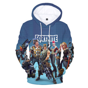 Wholesale Popular Fortnite Game Printed Hoodies with 3D Digital Stamp Guard Print Fortnite Games Hooded Sweater Loose Hoodie Size XXS-4XL on Sale
