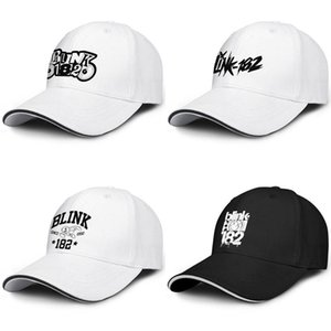Wholesale Blink white Ink Punk rock Truck driver adjustable Sandwich Hat Design cool Personalized cap music since blink punk horn Music