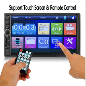 Full HD 1080p7 inch LCD wireless handfree Bluetooth touch screen remote HD TV mp5 player radio FM USB TF AUX reversing monitor for car