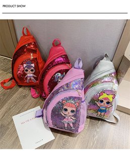 Wholesale 2019 New Summer Stylish Sequins Women One shoulder Bag Straddle Bag Girls Surprise Chest Bag Kids Crossbody Backpack Cute Book Bags B72401