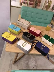 New Colour Matching Designer Camera Bag Women's Single Shoulder Skew Bag Multi-color Matching Box on Sale
