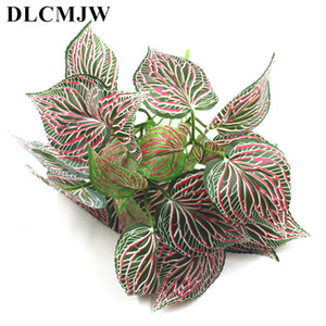 Wholesale Fake Plants Fern Grass Wedding Wall Outdoor Decor Green simulation Leaf Artificial Flowers Plastic plant for Home Garden Decor