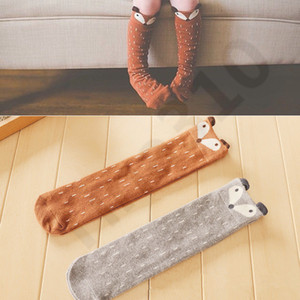 Wholesale New Fashion Autumn Combed Nylon Stockings Children s Pure Twist Knee girls Stockings Girl Stockings with animal pattern Colors