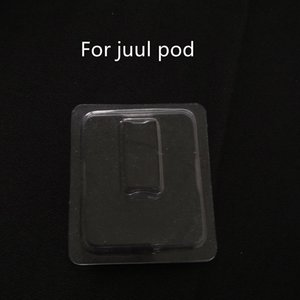 Clear Packaging Box Vaporizer Atomizer Clam Shell Blister Packaging Box For JUUL Pod Vape Pen Custom LOGO Empty Pod Cartridge