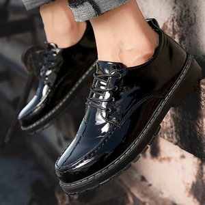 Wholesale Luxury Shoes Men Solid Color Flat Lace Up Round Toe Spring Autumn Casual Leisure Leather Brown Design Unique Business