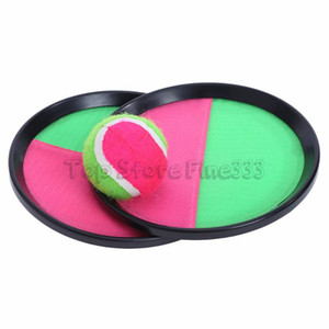 Wholesale 3pcs set Ball Toys Sticky Target Racket Indoor and Outdoor Fun Sports Parent-Child Interactive Throw and Catch Novelty Items CCA9494 50set