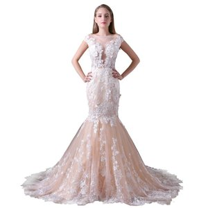 Wholesale Hot Sale Fast Shipping Long Mermaid Formal Evening Dresses Robe de Soiree Prom Dress With Appliques Floor Length Plus Size Prom Dresses