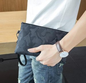 Wholesale factory sales bag printing men hand bag camouflage personality fashion envelope NYLON WALLET business casual men Large Wallet