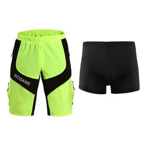 Wholesale choose shorts resale online - Men s Outdoor Sports MTB Cycling Shorts Climbing Running Loose Fit Shorts with Underwear D Padded Choose Sizes
