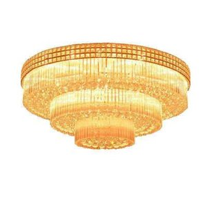 S gold round LED patch crystal lamp living room bedroom ceiling lamp luxury hotel project villa cake