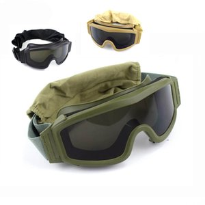 Wholesale tactical lenses resale online - High Quality Tactical Goggles Shooting Sunglasses Lens Army Paintball Motorcycle Windproof Wargame Glasses