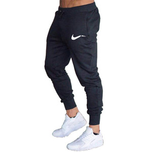 Wholesale 2019 trousers man joggers casual pants gym fitness men sweatpants print logo brand men pants Summer cotton pencil trousers