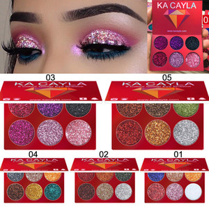 Wholesale 6-color diamond sequin eye shadow Shiny glitter powder high-gloss eye shadow Shiny eye shadow