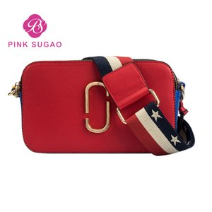 Pink sugao designer crossbody bag handbags purses for women 2019 new fashion shoulder bag simple crossbody bags high quality 15 color choose on Sale