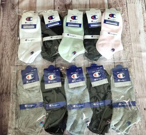 Wholesale Summer Men Women Champions Socks Cotton Ankle Short Stocking Basketball Football Sock Fashion Casual Sports Boat Socks With Tag C61305
