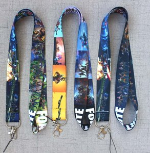 Wholesale Night Game Lanyard Phone Lanyards for Men Women Holders Chain Badge Keychain ID Cards Chain Action Toys Figure