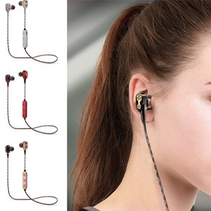 Wholesale M18 Wireless Headset Bluetooth Earphones Stereo Earbuds Sport Headphones with Mic Volume Control mm Interface with Retail Box
