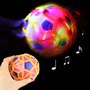 Wholesale Luminous Music Dancing Ball Children Seven Colors Bouncing Balls Child Multi Colors Light Flash Football Hot Selling dc L1
