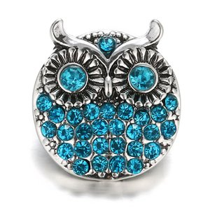Wholesale Fashion Noosa Snap Buttons Styles Rhinestone Turtle Owl Charms Metal Clasps DIY Noosa Interchangeable Jewelry Accessories Free DHL M49Q