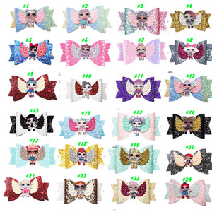 Wholesale baby hair styles for sale - Group buy 24 Style LOLS urprise Girls Hairpin Baby Sequin Glitter Bow Clips Girls Bowknot Barette Kids Hair Boutique Bows Children Hair Accessories