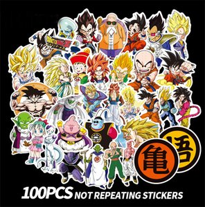 Wholesale 100pcs Dragon Ball toys pasters fans decals scrapbooking diy stickers decorations phone waterproof cartoon accessories gifts