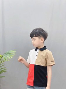 Wholesale 2020 New Children s Summer Cotton Short Sleeved Shirt Baby Boys Girls Solid Color Polo Shirt Kids Brand Polo Clothes Ou