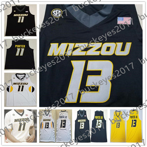 Wholesale Hot Mizzou Missouri Tigers Javon Pickett Mark Smith Mitchell Jontay Porter Torrence Watson Nikko Black White Yellow Jersey