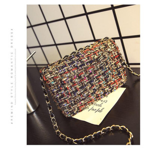 Wholesale 2016 real winter catwalk new diamond flash silk single shoulder bag special retro style