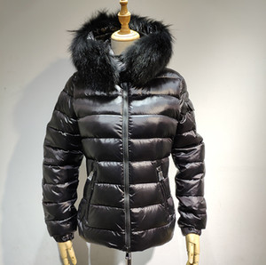New Coat hot sale women jacket winter coat thickening Female Clothes hood down jacket Slim 100%Fox fur Parka S-XL