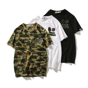 Wholesale Bape Undefeated Mens Designer T Shirt Men Women High Quality Summer Cotton Short Sleeves Couples Casual T Shirt Polo Colors
