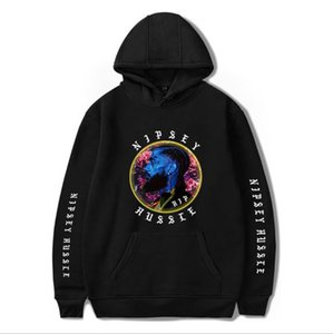 Nipsey hussle the rapper's nipsey hussle European and American fashion commemorative jersey with a woolly hoodie on Sale