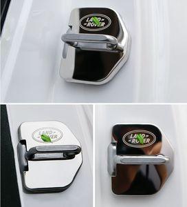 4x Stainless Steel Car Door Lock Buckle Striker Cover Trim For Land Rover Freelander 2 LR2 2011-2015