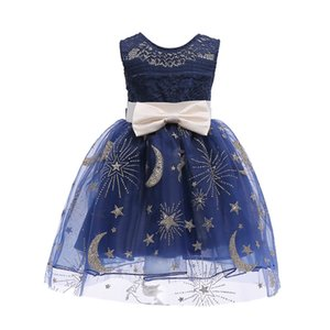 Wholesale Kids Clothes Floral Baby Girl Princess Bridesmaid Pageant Gown Birthday Party Wedding Summer Dresses Vestidos Dropshipping