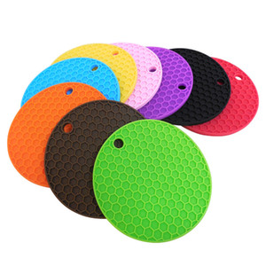 Wholesale 12 cm Round Silicone Non Slip Heat Resistant Pot Table Mats Holder Coaster Cushion Mmat Pot Table Mat Silicone Placemat CCA11644 A