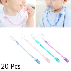 Wholesale 20 Anti out Baby Pacifier Clip Chain Stretchable cm with Spring Translucent Pacifier Chain Baby Items