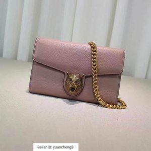 Wholesale yuancheng3 Chain wallet bronze leopard head accessory nude powder Women Handbags Bags Top Handles Shoulder Bags Totes Evening Cross