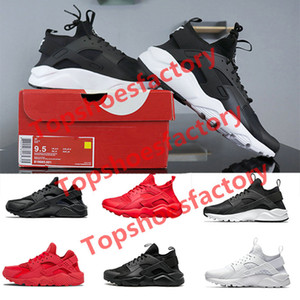 черный huarache кроссовки оптовых-2019 Huarache Ultra Hurache Running Shoes for men sole Triple White Black Huraches Sports Huaraches Sneakers Harache Mens designer shoes