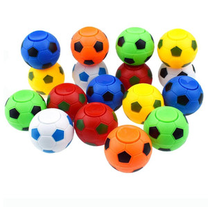Wholesale 5CM CM Soccer Footable Fidget Spinner Plastic Ball Hand Spinner Reduce Stress and Increase Attention Toy Gifts