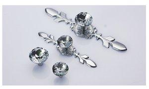 Pack 30mm Forma de Diamante de Cristal de Vidrio del gabinete del caj/ón Perillas y Tiradores de Oro Rosa Maneja Armario de Hardware Case/&Cover 10pcs