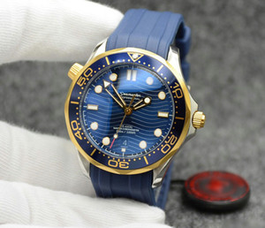 Top 2813 42MM Automatic Outdoor Mens Watches Watch Blue Dial With Blue Rotatable Bezel and Transparent Case Back With Stainless Steel Strap on Sale