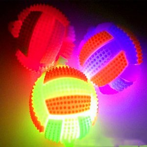 Wholesale Flashing Rubber Sound Volleyball LED Light Up Bumpy Kids Toys High Bouncing Balls Party Favor Halloween Christmas