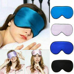 Eye Mask Travel Rest Sleep Masks Sleeping Blindfold - Soft Cotton Silk Padded