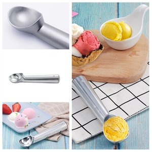 Wholesale ice cream shops for sale - Group buy hot metal Ice cream scoop Self melting Ice cream scoops Ball scoop Ice cream makers Cake shop bar kitchen tools T2I5916