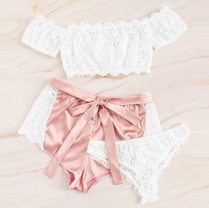 Wholesale feitong Female Women Lingerie Corset Lace Underwire Racy Sleepwear Underwear Tops Short Briefs Erotic G string Babydolls new